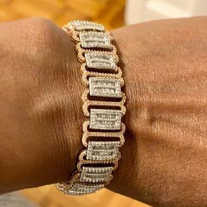Jewelry - 27.08 g of 10K White & Rose Gold 6.00 ct. Bracelet